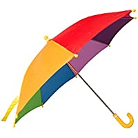 Mountain Warehouse Kids Rainbow Umbrella - Fun & Colourful Rainbow Fabric Sun Brolly, Easy Care Rain Umbrella - Open: 40cm - For Winter, Garden, Picnic & Patio