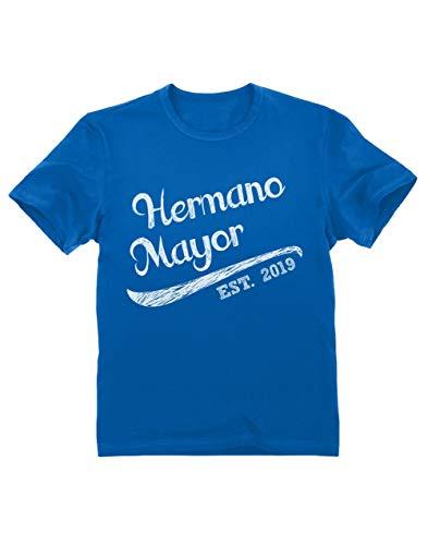Green Turtle T-Shirts Camiseta para niños - Hermano Mayor - Regalo Original para Hermanos Mayores 3/4 Años 104cm Azul