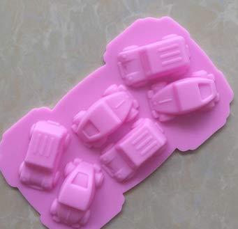 Vikenner Fondantform Form Silikon Oldtimer Kuchen Silikonform für Fondant Schokolade DIY 3D Eisformen Schokolade Silikon Form Seifenform Kuchenform