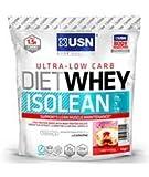USN Diet Whey Isolean Proteine Burro di Arachidi al Cioccolato 1kg