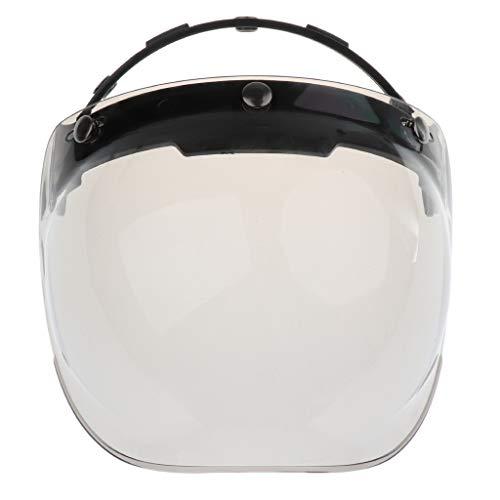 kesoto Visiera Protettiva per Casco Visiera Parabrezza per Casco 3 Visi per Caschi Moto Ricambi e Accessori - 4