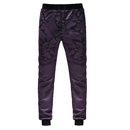 Mymyguoe Mode Männer Outdoor Packwork Camouflage Schwarz Splicing Kordelzug Hosen Workout Running Gym Tarnhose Laufhose Sportswear Vintage Trousers Herren Cargo Hose