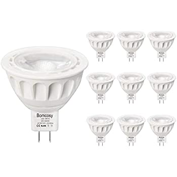 Bomcosy Bombillas LED MR16 12V Casquillo GU5.3 Spot Luz Blanco Frio 6000K 5 W equivalente a 50 W Halógenas 420 Lúmenes 35 Grados Ángulo No Regulable ...