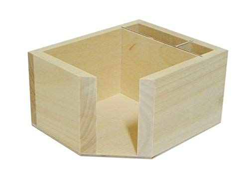 Soporte de madera para notas de papel, dispensador de caja de bolígrafos, escritorio de oficina