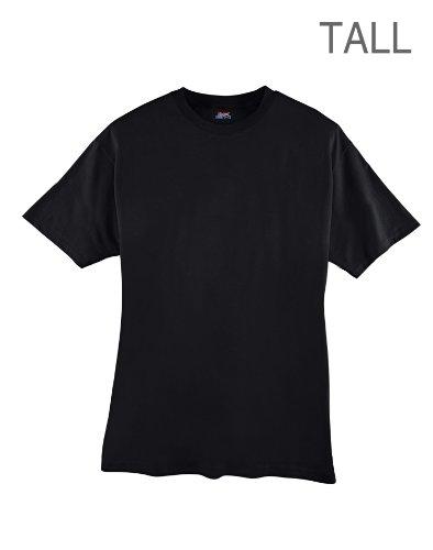 hanes-beefy-t-mens-tall-t-shirt-best-seller-518t-lt-black