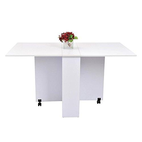 homcom 02-0621 Beistelltisch, Holz, weiß, 80 x 80 x 74 cm