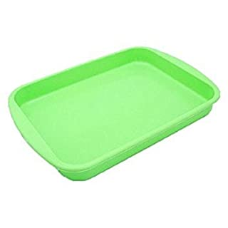 Allforhome 10 Inches Rectangle Tray Nonstick Flexible Silicone Oven Cake Baking Candy Making Moulds Cake Pans DIY Bread Loaf Toast Mold Multifunction