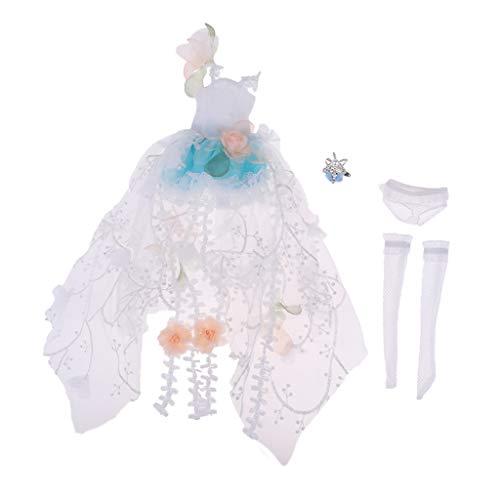 Fenteer Puppenkleidung Puppe Kleider Bekleidung Outfits für 1/4 Zoll BJD Puppen Doll Mädchen Spielzeug - Hellblau - Unterwäsche-set Puppenkleidung