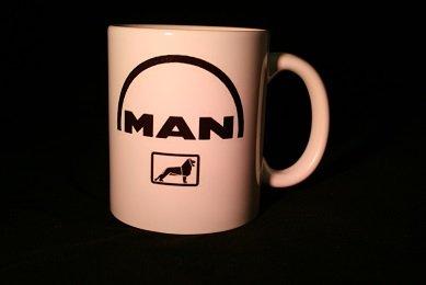 Kaffeetasse Tasse mit LKW / Truck Logos und Texten / Sprüche (MAN)