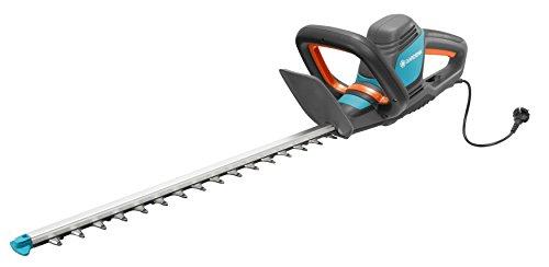 GARDENA Elektro-Heckenschere ComfortCut 600/55: Heckenschneider mit 600 W Motorleistung, 55 cm Messerlänge, 27 mm Messeröffnung, ergonomischer Griff und Anschlagschutz (9834-20)