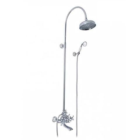 Bluewater Nik-zwpn. 500C Chromé Système de douche pour montage apparent à partir de–Gris (1pièce)