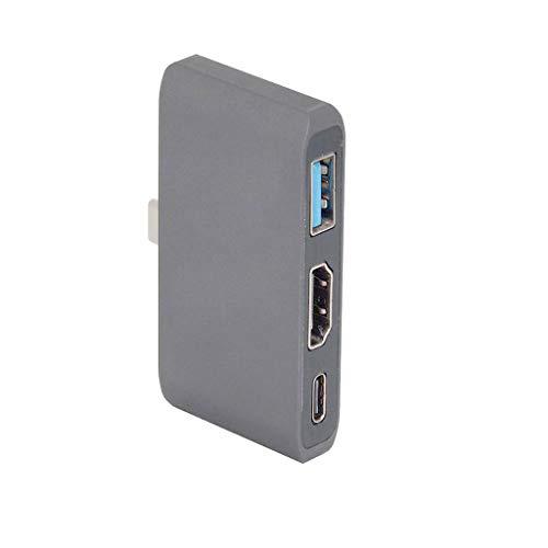 planuuik USB C 3.1 auf HDMI 4K Digital Multiports Hub Adapter Konverter für Samsung S8 / 9 für Nintend Switch für MacBook12 / Mac Pro13 / 15 (2016 2017) Grau