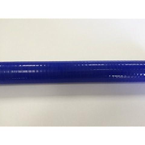 Manguera de silicona acoplador recto 25mm ID x 325mm de largo azul