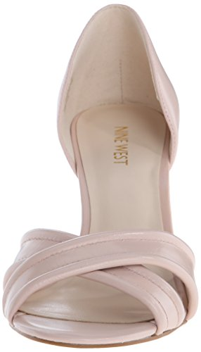 Nove in pelle con tacco del sandalo occidentale Fortunata Light Natural