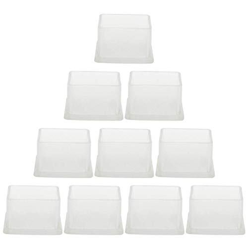 ZCHXD Clear PVC Chair Leg Cap End Tip Feet Cover Furniture Floor Protector 10pcs 1
