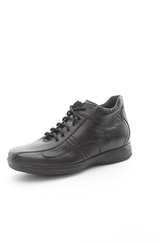 Lion 8495 Sneakers Uomo Pelle Nero Nero 44