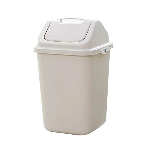 ZHOME Schritt Mülleimer Swing-Abfalleimer, großer überdachter Sanitäreimer für Küche, Büro, Badezimmer (Schritt Küche Groß Mülleimer)