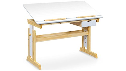 JUSTyou Anas Schreibtisch Schülerschreibtisch Arbeitstisch (HxBxL): 62-88x55x109 cm Weiß Kiefer