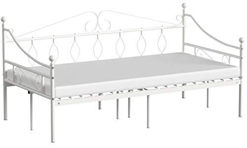 Aingoo Tagesbett Metallbett mit Bettrahmen für Schlafzimmer Wohnzimmer
