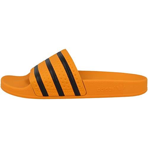 Adidas adilette, pantofole aperte sul retro uomo, arancione s18/core black/real gold s18, 42 eu