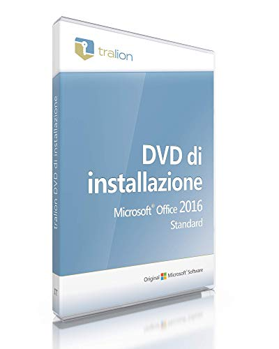 Microsoft Office 2016 Standard - incluso DVD Tralion, inclusi documenti di licenza, audit-sicuro