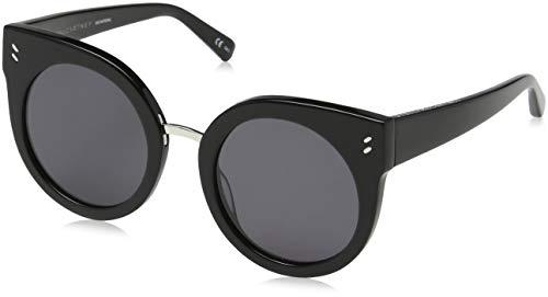 Stella mccartney sc0036s 001, occhiali da sole unisex - adulto, nero (001-black/smoke), 51