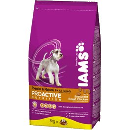 Iams Senior Mature Chicken Dry Kibble Dog Food 3kg