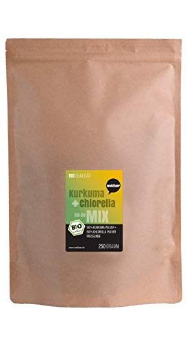 Wohltuer Bio Kurkuma + Chlorella Presslinge Bio | Superfood Mix Tabletten in Rohkostqualität 250g |...