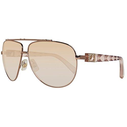 Swarovski sk0003-6172f, occhiali da sole donna, rosa (shiny pink/gradient brown), 61