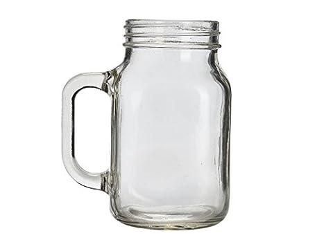 Genware Mas680dans bocal en verre, verre, 68cl/24g (lot de 6)