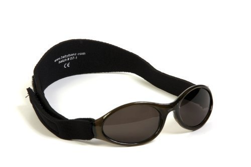 Adventure Banz Baby-Sonnenbrille, Mitternacht-Schwarz, 0–2Jahre