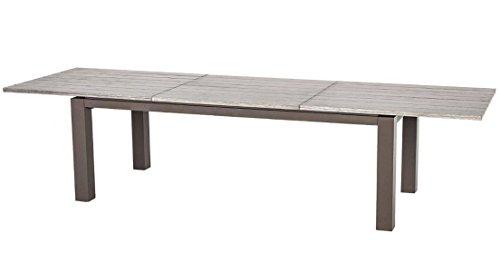 Table de jardin extensible rectangulaire en aluminium - Dim : L220/320 x P100 x H76 cm -PEGANE-