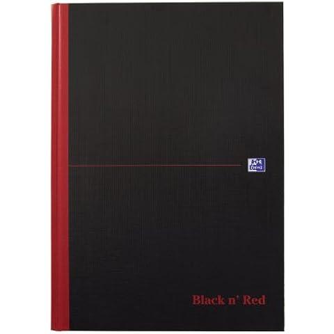 Black n' Red D66174 - Bloc de notas con líneas, A4, tapa dura, color negro y rojo
