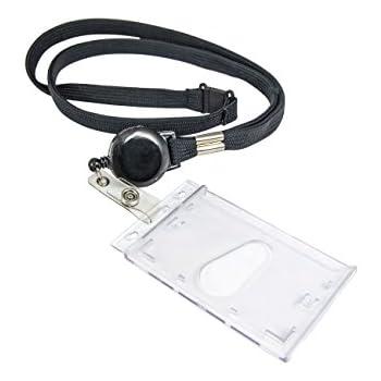 SAVORI 32,9Bling Crystal Lanyard Strap mit versenkbaren Badge Holder Grau ID Kartenhalter Lanyard 1 Pack