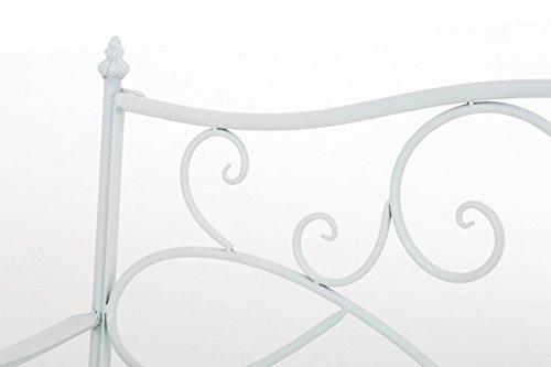 Gartenbank Felicita aus Eisen l Landhausstil l Metall weiß - 2