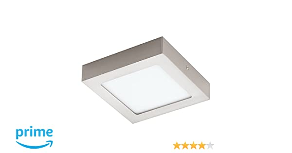 Plafoniera Led Eglo Prezzo : Eglo 94524 luce interna integrato argento: amazon.it: illuminazione