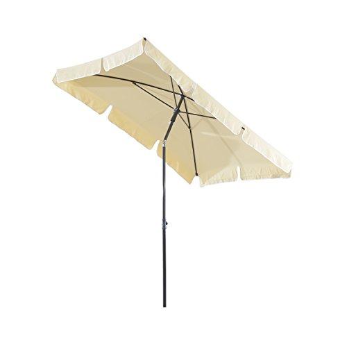 Rechteckiger Sonnenschirm (Outsunny Sonnenschirm Gartenschirm Strandschirm Balkonschirm Schirm Sonnenschutz knickbar)