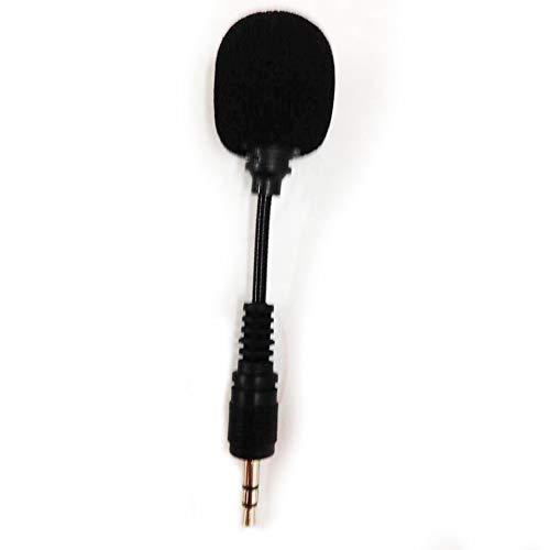 Threaded Plug (Mini-Handy-Mikrofon, 3,5 mm Stereo-Mikrofon, flexibel, tragbarer Kondensator, kurzes Mikrofon - für Handys/Laptop-Aufnahmen. Threaded Plug)