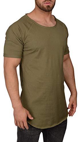 QULAXITY XVI Herren T-Shirt Oversize Locker (M, Burnt Olive)