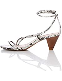 find. Barely There Cone Heel Strappy, Sandales Bout Ouvert Femme