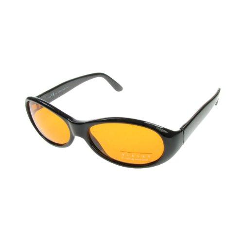 SISLEY Jahrgang Retro Konstrukteur Mode Sonnenbrille mit Etui UV400 (427 501)