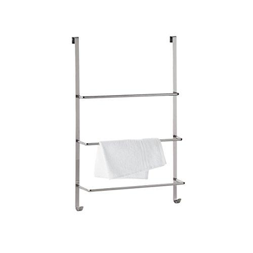 axentia handtuchhalter f r die t r t rgarderobe mit drei stangen handtuchhaken zum h ngen. Black Bedroom Furniture Sets. Home Design Ideas