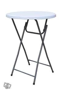 Table pliante haute d'appoint ronde mange debout diametre 80X110 cm REF GBMT15