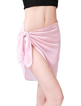 Falda Corta Mujer, Ularma Mujeres Playa Cubierta Por Gasa Falda Bikini Traje De Baño Encubrimiento Abrigo Falda...