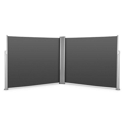 Blumfeldt Bari Doppio 616 • Doppel-Seitenmarkise • Standmarkise • Seitenrollo • Sichtschutz...