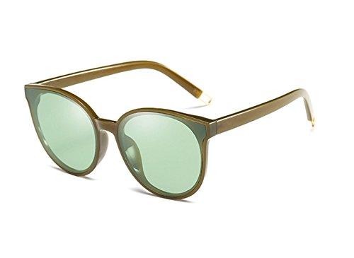 Europa und die Vereinigten Staaten Persönlichkeit Schattierung Gläser Spiegel runden Gesicht Retro Kunst Männer und Frauen Sonnenbrille Outdoor HD Augenschutz (Farbe : 1)