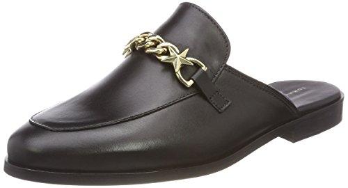 Feminine Slip ON Loafer Chain Slipper, Schwarz (Black 990), 41 EU ()