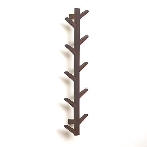 Portemanteau mur suspendu en bois massif cintre salon chambre décoration,Brown,10hook