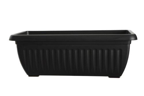 g07p7070cm Athen Terrasse Übertopf–schwarz