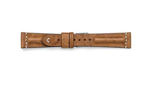 Vintage Armband in Vero Montone 18 mm 20 mm 22 mm Made in Italy 20-16 oro (Vintage-rolex-uhren Für Frauen)